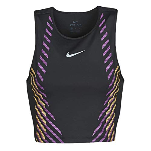 NIKE Top Runway Gx T-Shirt Camiseta para Mujer, Verde grisáceo/Reflective Silv, Extra-Large