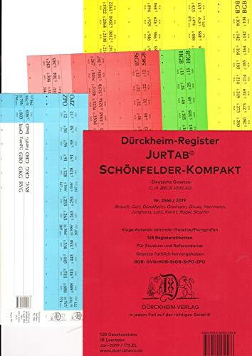 DürckheimRegister SCHÖNFELDER KOMPAKT (2020) / Gesetze und §§: 120 Registeretiketten (sog. Griffregister) für SCHÖNFELDER, C.H.Beck Verlag • AT, ... • In jedem Fall auf der richtigen Seite
