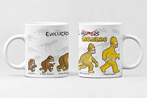 Desconocido Simpsons Evolution Tasse DEE Keramik Kaffee Homer