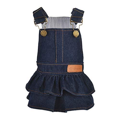 SUMTTER Kleidung für kleine Hunde, Denim-Kleidung, für Welpen, kleine Größe, für Chihuahua/Pincher