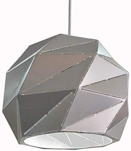Moderne plafondlamp hanglamp, ronde grijze metalen hanglamp voor eettafel, E27 hanglamp kroonluchter voor eetkamer, slaapkamer en woonkamer, 35 cm