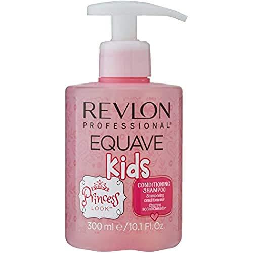 EQUAVE Kids Princess Shampoo, 300 ml, sanftes Kindershampoo mit hypoallergener Formel, angereichert mit Vitamin B, Pflegeshampoo speziell für die Haare von Kindern