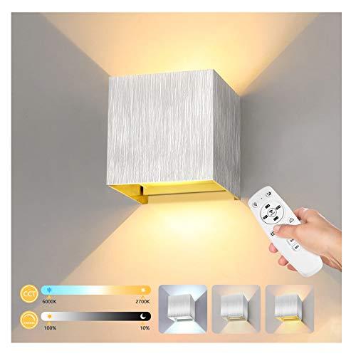 Lureshine LED Intelligent Wandleuchte Innen Außen Wandlampe 12W mit Fernbedienung Einstellbar Farbtemperatur Warmweiß/Kaltweiß IP65 Wasserdicht Abstrahlwinkel Einstellbar)