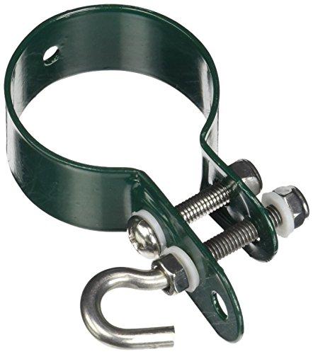 GAH-Alberts 655624 Schelle für Geflechtspannstäbe-verzinkt, grün, Ø48 mm