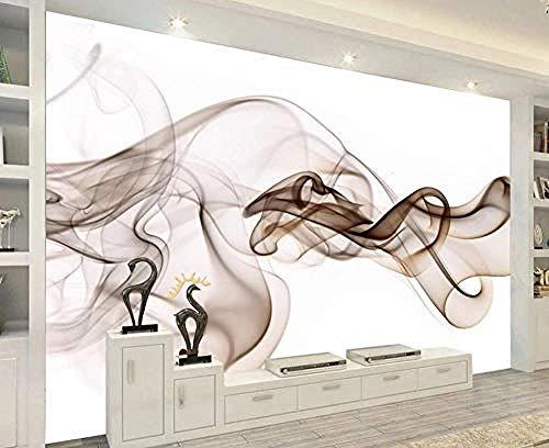 3D wandbehang wandbehang voor woonkamer slaapkamer wandschilderijen decoratie huis abstract rook bruin 250 cm × 175 cm (lxh)