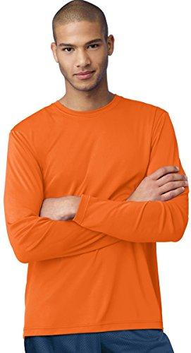 Hanes Cool DRI Performance camiseta de manga larga para hombre_Safety Orange_3X