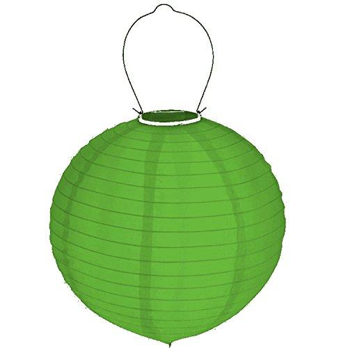 Solar LED Lampion Hänger 30cm Solarleuchte Gartenlampion Beleuchtung Außen Party (Grün)