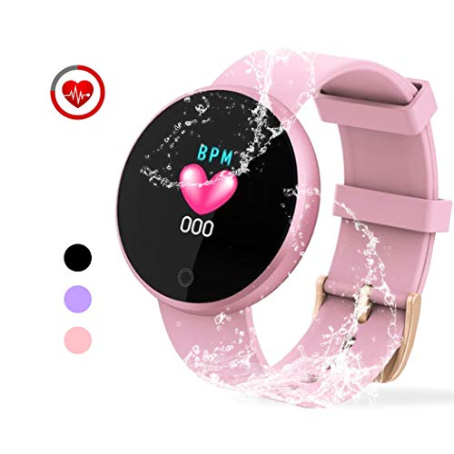 YONKFUL Waterproof Fitness Tracker Activity Tracker GPS Watch with Heart Rate Monitor Sleep Monitor Pedometer Step Calorie Counter for Women Pink