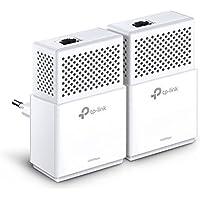 TP-Link TL-PA7010 KIT - 2 Adaptadores de Comunicación por Línea Eléctrica (AV 1000 Mbps Gigabit, PLC, Extensor, Repetidores de Red, Amplificador Cobertura Internet, 2 puertos, PS4)