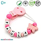 'Butterfly pink+pink' Chupetero Personalizado con Nombre | Chupetero Mordedor...