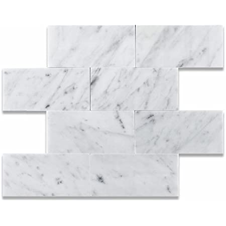 12 X 12 Bianco Carrara White Marble Honed Field Tile Box Of 5 Sq Ft