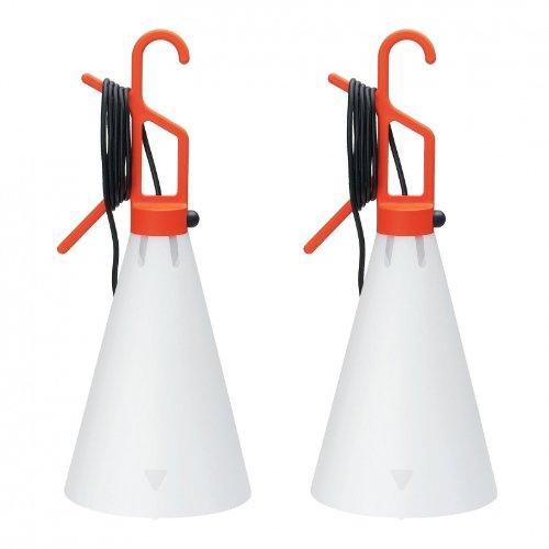 Flos May Day 2 x oranje mayday F 3780002 universele decoratieve lamp design constant Grcic Mayday tegen setprijs