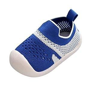 YWLINK Zapatos De Primer Paso Zapatos para BebéS De Suela Blanda Antideslizantes Zapatillas EláSticas De Malla Transpirable Zapatos De Cama Regalo De CumpleañOs