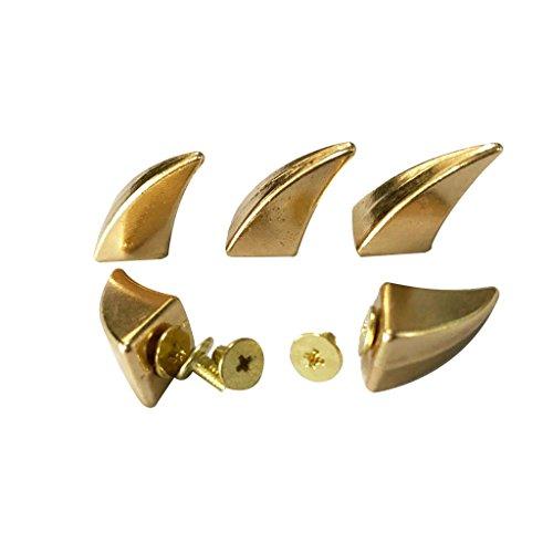yotijar 5X Remaches Punk con Forma de Cuerno para Bolso de Bricolaje, Zapatos, Sombrero, Cinturón, Decoración - Oro, Individual