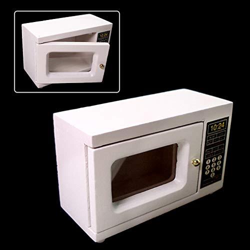 6Wcveuebuc 1: 12 Escala casa de muñecas Muebles Miniatura Horno de Microondas Simulación Modelo de Cocina Decoración