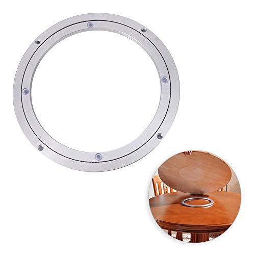 Placa giratoria, Lazy Susan Aleación de aluminio de alta resistencia Rodamiento giratorio Mesa redonda de comedor Mesa giratoria lisa Placa giratoria para caleidoscopios (10 pulgadas)