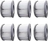 WuYan Lot de 6 filtres de jacuzzi pour piscines gonflables MSPA, version...