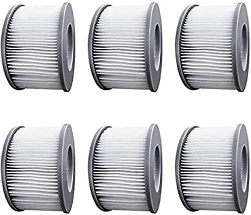 WuYan Juego de 6 filtros de repuesto para MSPA FD2089 para hidromasaje, bomba de cartucho para submarino y spa caliente