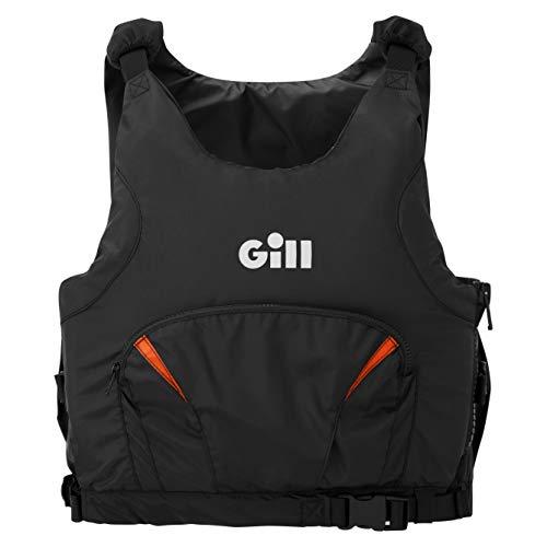 Gill Pro Racer Side Zip 50N Kayak Dinghy Sailing PFD Buoyancy Aid para Deportes acuáticos - Negro Naranja - Unisex