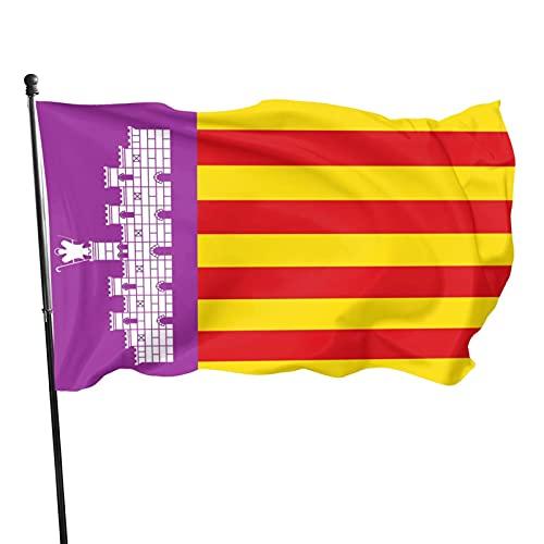 Klicnow - Bandera de Mallorca (España), 100% poliéster con ojales de latón