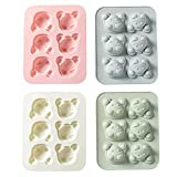 NIKALONG 2 Piezas Cartoon Cat Animal Modeling Gel of SíLice Mould Jelly Ice Mould Chocolate Cookie Candy Craft Ice Mould DIY Cake Decoration Bake Tool