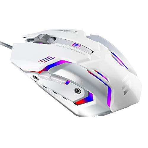 Lingyi Gaming Mouse, 6Boutons programmables, 4Niveaux de DPI Réglables, 4Circulaire et...