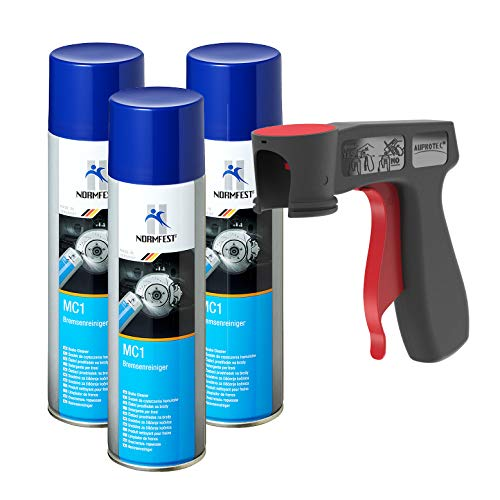 AUPROTEC Bremsenreiniger MC-1 Multicleaner Spray Intensiv Reiniger transparent 3X 500ml + 1x Original Pistolengriff