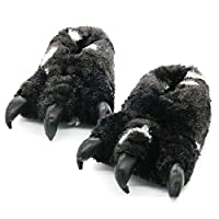 Whdz 冬の漫画の動物のスリッパベアの爪のスリッパ屋内綿のスリッパ (Color : B, Size : 29CM)