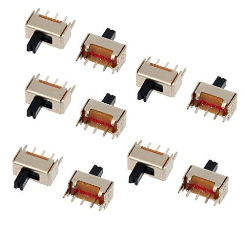 Colcolo SS-12D07VG4 4 Mm 2 Posiciones 1P2T Interruptores Deslizantes Verticales de Panel PCB 10 Piezas