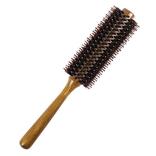 Cepillo Pelo, Cepillos para el Cabello de Madera Sólida, 100% Cerdas Naturales De Jabalí, Adecuado Para Mujeres Y Hombres, Diámetro 4.8 cm