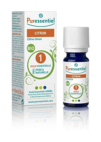 Puressentiel - Huile Essentielle Citron - Bio - 100% pure et naturelle - HEBBD - 10 ml