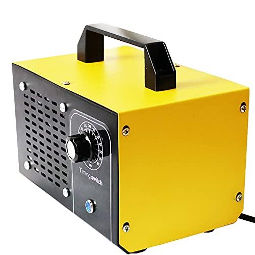 ATWFS Generador de Ozono Profesional, 48000mg/h 60000 mg / h Maquina ozono con Temporizador para Hogar, Garajes, Granjas, Hoteles y Mascotas, Purificador de Aire (48000mg/h, Amarillo)