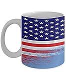 N\A USA Mikronesien Flagge polynesische 11oz weiße Kaffeetasse Teetasse