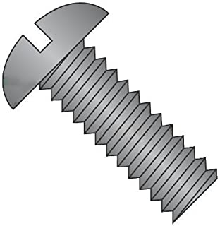 1//8 Length #2-56 Threads Pack of 10 Fillister Head 18-8 Stainless Steel Machine Screw Vented Plain Finish Slotted Drive