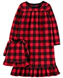 Carter's Toddler Girls 2-Pk. Buffalo-Check Nightgown & Doll Nightgown Set, Red , 5T