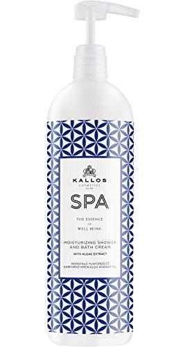 Kallos Spa Feuchtigkeitgebendes Duschbad und Schaumbad Creme mit Algenextrakten, 1000 ml