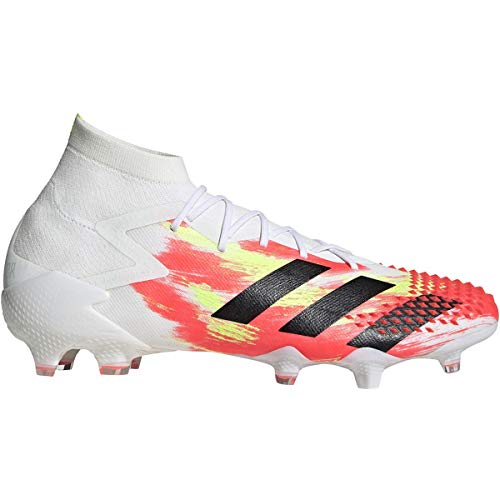 adidas Predator MUTATOR 20.1 FG Firm Ground Soccer Shoes (Men's), 10.0 M, Cloud White/Core Black/Pop