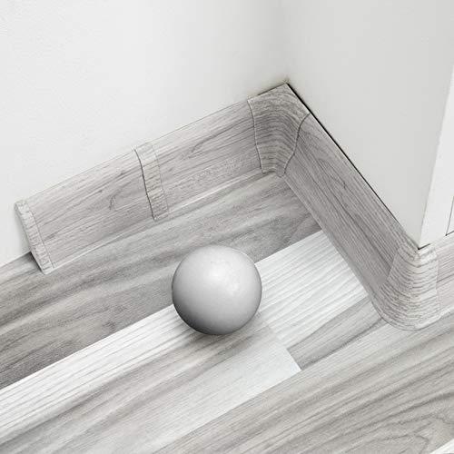 [DQ-PP] Innenecke 62mm PVC Eiche Chillout Laminatleisten Fussleisten aus Kunststoff PVC Laminat Dekore Fußleisten