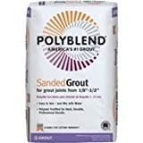 Polyblend Sanded Colored Tile Grout Dry Natural Gray 25 Lb