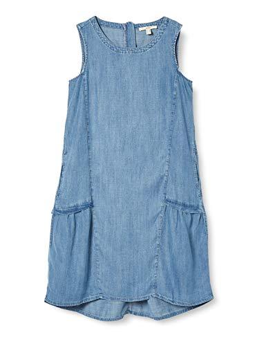 ESPRIT Damen 050EE1E304 Kleid, 903/BLUE Light WASH, S