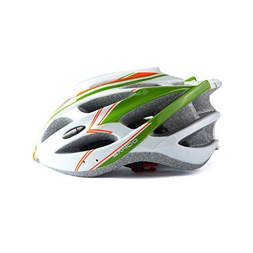 Sturzhelm, umweltfreundlich, superleicht, Integral-Fahrradhelm, verstellbar, leicht, Mountainbike, Rennrad, abnehmbarer Hut für Damen und Herren (Farbe: Rot)