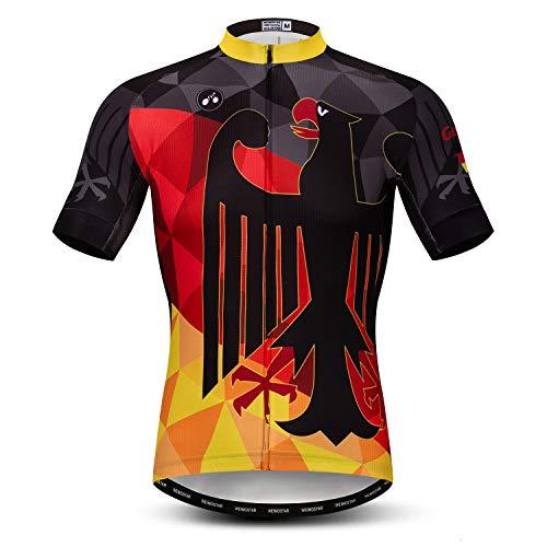 JPOJPO Neu Männer Herren Fahrradtrikot Radfahren Kleidung Kurze Hülse Trikots Sportbekleidung Sommer Mode Deutschland