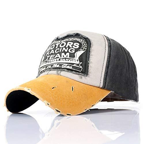 FEIDAjdzf Sombrero, estilo clásico, unisex, para mujer y hombre, de verano, de algodón, para motocicleta, estilo vintage, con letra impresa, sombrero de sol