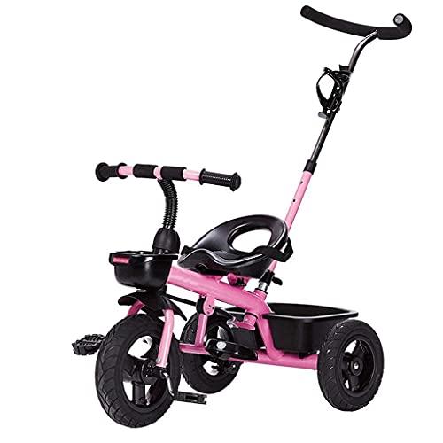 OHHG Bicicleta niños, Triciclo Triciclo Cochecitos Trolley Triciclo Carrito bebé Bicicleta Coche Juguete niños Titanio Ruedas vacías Bicicleta Doble Freno Bicicleta 3 Ruedas