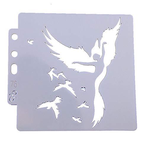 Hinleise Zeichnen Malerei Schablonen Skale Vorlage Adler und Tänzerin Muster Wiederverwendbar Schablonen Werkzeug für DIY Zeichnung Malerei Handwerk