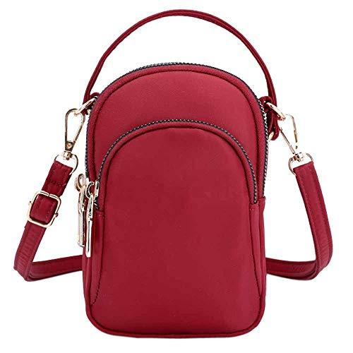 Bfmyxgs Beliebte Tasche für Frauen Mädchen Schulter Messenger Bag leichte Nylon Tasche Handy Kopfhörer Tasche Rucksack Schultertasche Handtasche Totes Münze Tasche Taille Beutelpackung Brust