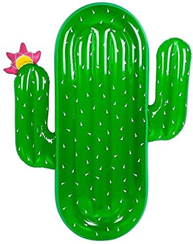 LEYIS Toy Cactus Gonfiabile Galleggiante Sedia Boa di Anello di Nuoto Piscina Vasca da Bagno Anello di Sicurezza ausiliaria Floating Row Pool Party for Adulti e Bambini