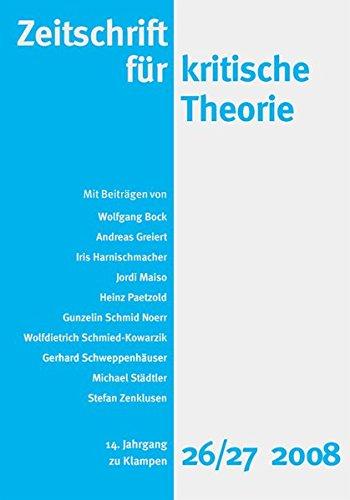 Zeitschrift für kritische Theorie: HEFT 26/27: 14. Jahrgang (2008)