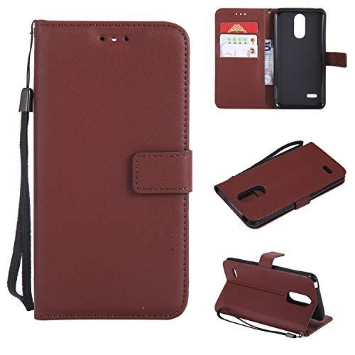 TTUDR Leder Wallet Case für LG K8 (2017) / US215 Wallet Flip Case mit Kickstand Kartenfächer Magnetverschluss Schutzhülle für LG K8 2017 - TTMS020855 Coffee