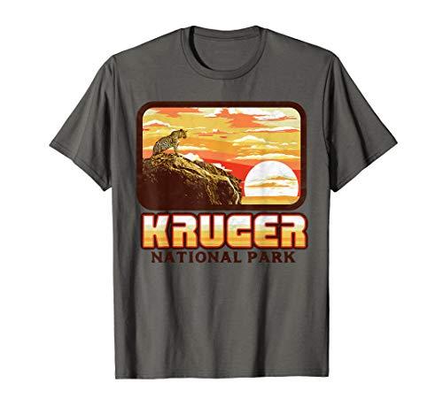 Retro Kruger National Park Leopard Vintage 80s South Africa T-Shirt